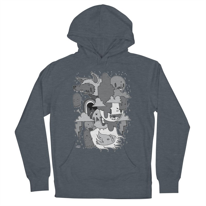Rainy Day - Gray Men's French Terry Pullover Hoody by Nicky Davis Threadless Shop