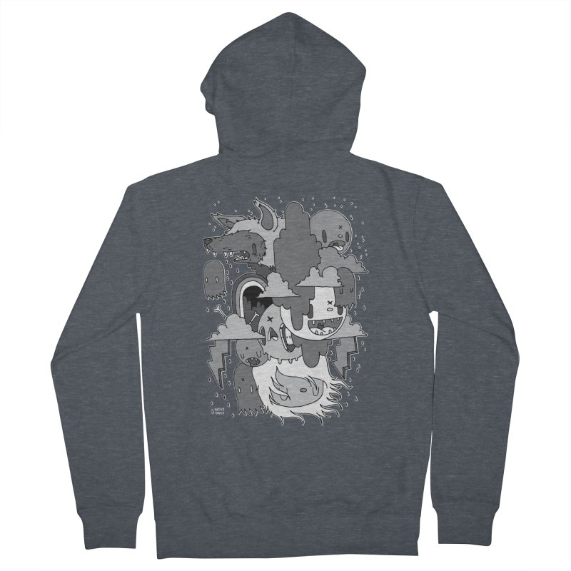 Rainy Day - Gray Men's French Terry Zip-Up Hoody by Nicky Davis Threadless Shop