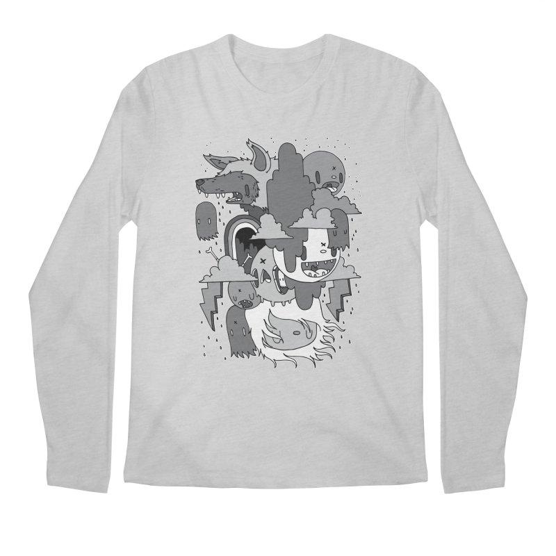 Rainy Day - Gray Men's Regular Longsleeve T-Shirt by Nicky Davis Threadless Shop