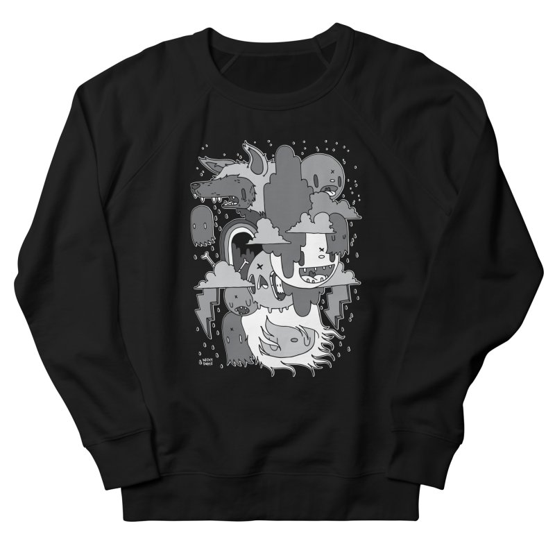 Rainy Day - Gray Women's French Terry Sweatshirt by Nicky Davis Threadless Shop