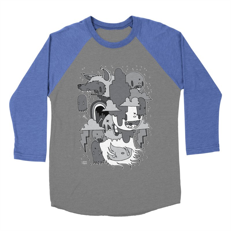 Rainy Day - Gray Men's Baseball Triblend Longsleeve T-Shirt by Nicky Davis Threadless Shop