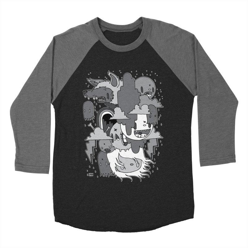 Rainy Day - Gray Men's Baseball Triblend Longsleeve T-Shirt by Nicky Davis Threadless Shop