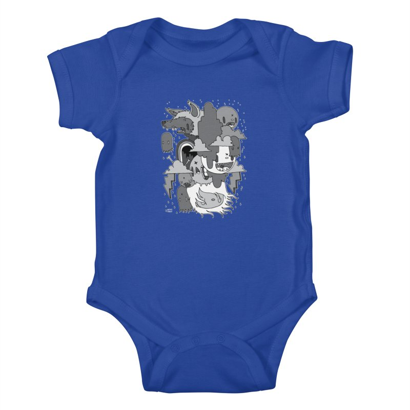 Rainy Day - Gray Kids Baby Bodysuit by Nicky Davis Threadless Shop