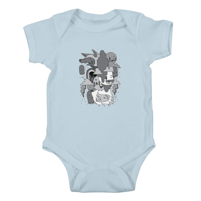 Rainy Day - Gray Kids Baby Bodysuit by Nicky Davis Threadless Shop