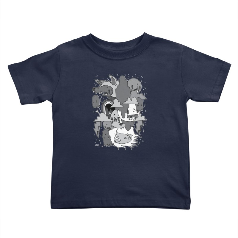 Rainy Day - Gray Kids Toddler T-Shirt by Nicky Davis Threadless Shop