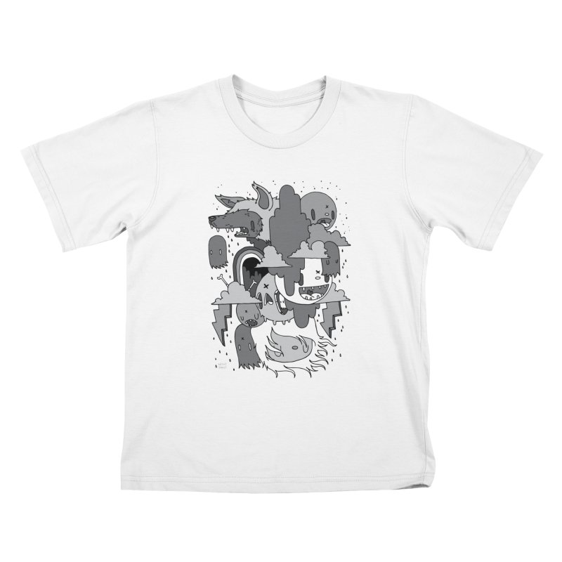 Rainy Day - Gray Kids T-Shirt by Nicky Davis Threadless Shop