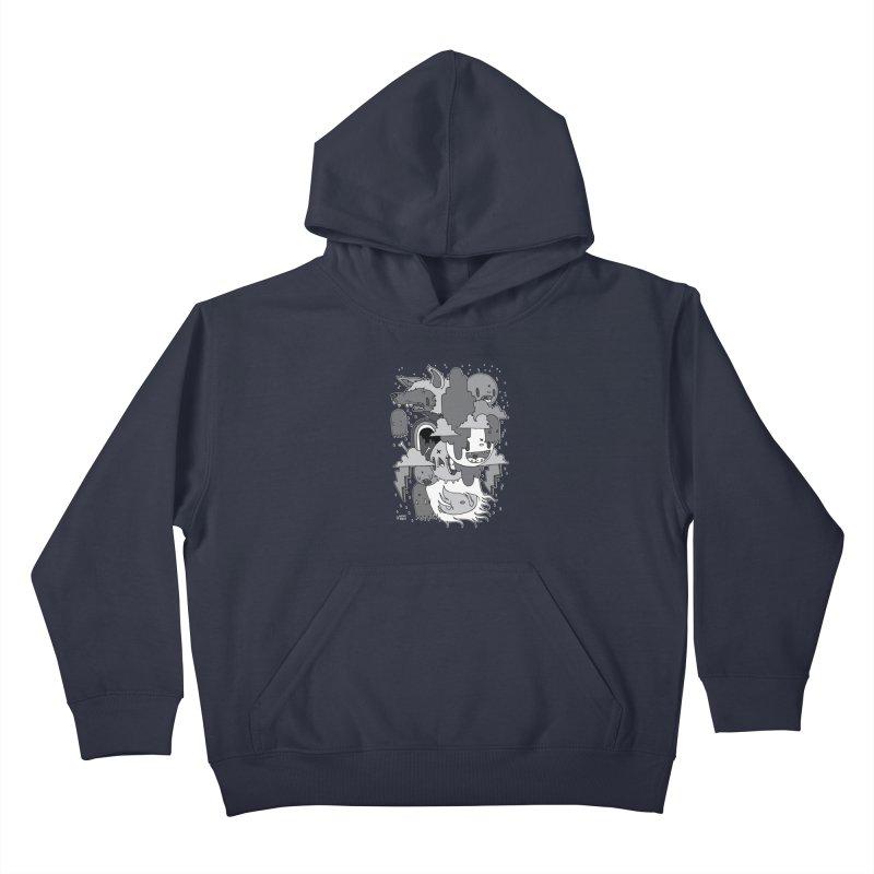 Rainy Day - Gray Kids Pullover Hoody by Nicky Davis Threadless Shop