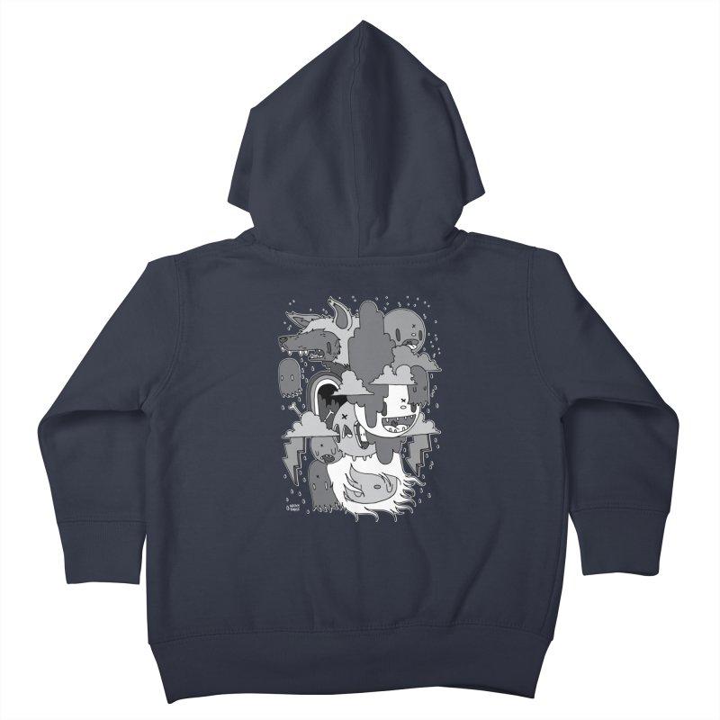 Rainy Day - Gray Kids Toddler Zip-Up Hoody by Nicky Davis Threadless Shop