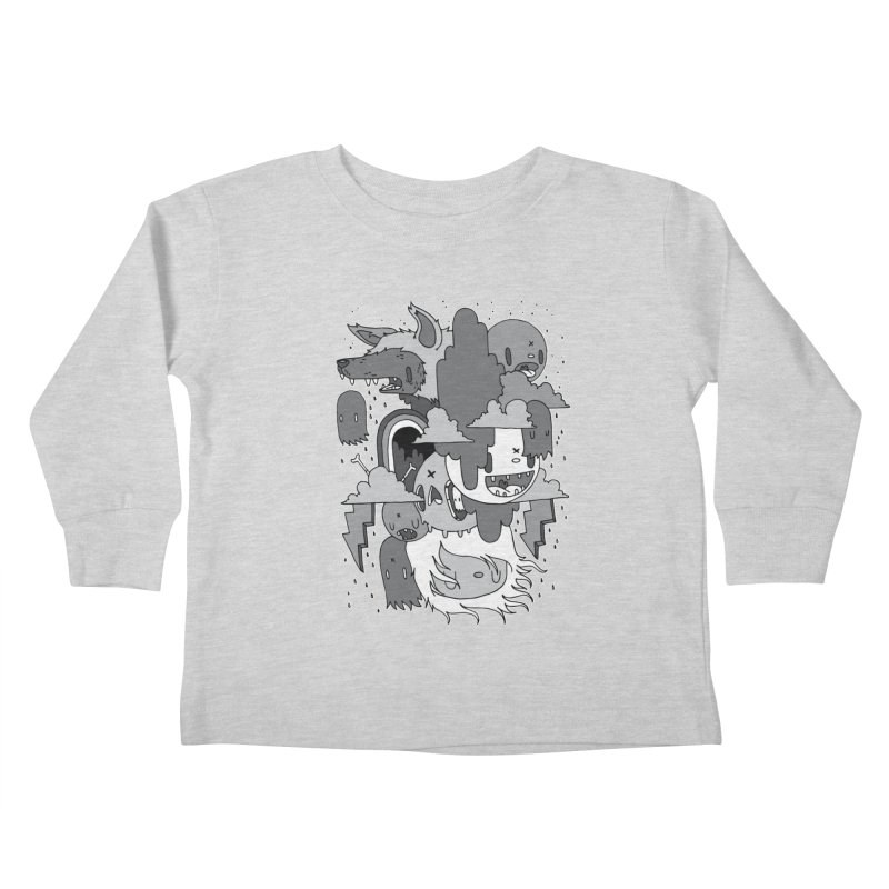 Rainy Day - Gray Kids Toddler Longsleeve T-Shirt by Nicky Davis Threadless Shop
