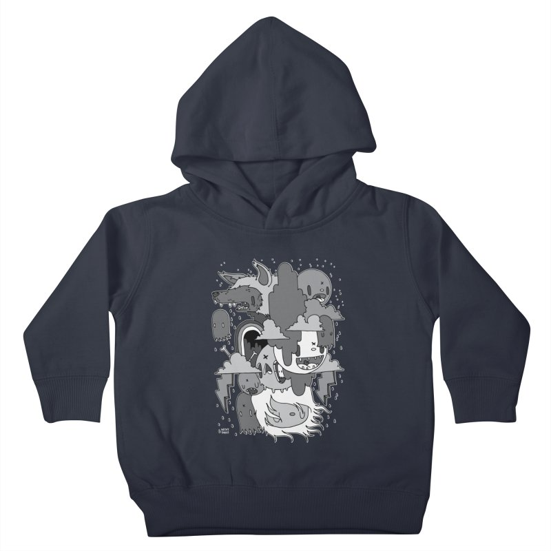 Rainy Day - Gray Kids Toddler Pullover Hoody by Nicky Davis Threadless Shop