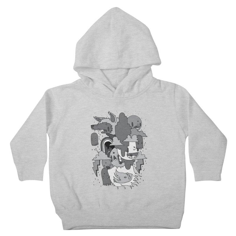 Rainy Day - Gray Kids Toddler Pullover Hoody by Nicky Davis Threadless Shop