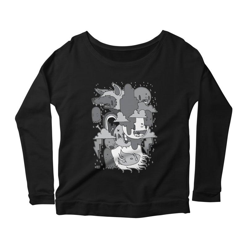 Rainy Day - Gray Women's Scoop Neck Longsleeve T-Shirt by Nicky Davis Threadless Shop
