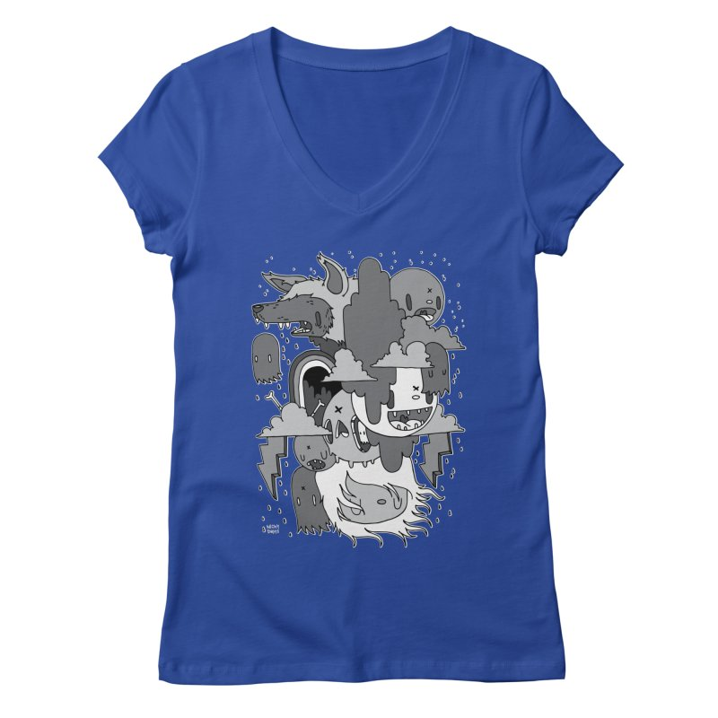 Rainy Day - Gray Women's Regular V-Neck by Nicky Davis Threadless Shop