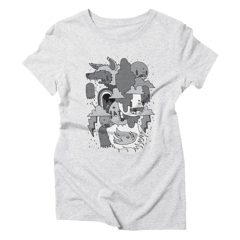 Rainy Day - Gray Women's Triblend T-Shirt by Nicky Davis Threadless Shop