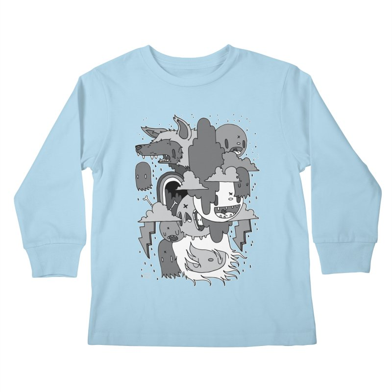 Rainy Day - Gray Kids Longsleeve T-Shirt by Nicky Davis Threadless Shop