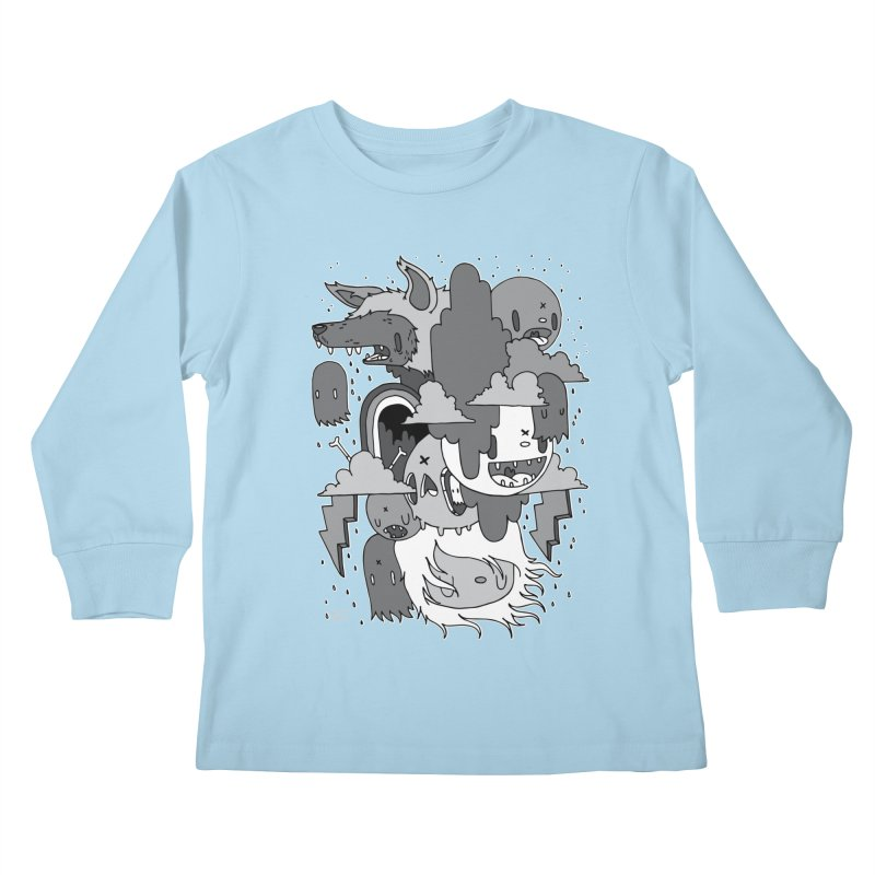 Rainy Day - Gray Kids Longsleeve T-Shirt by Nicky Davis Threadless Shop