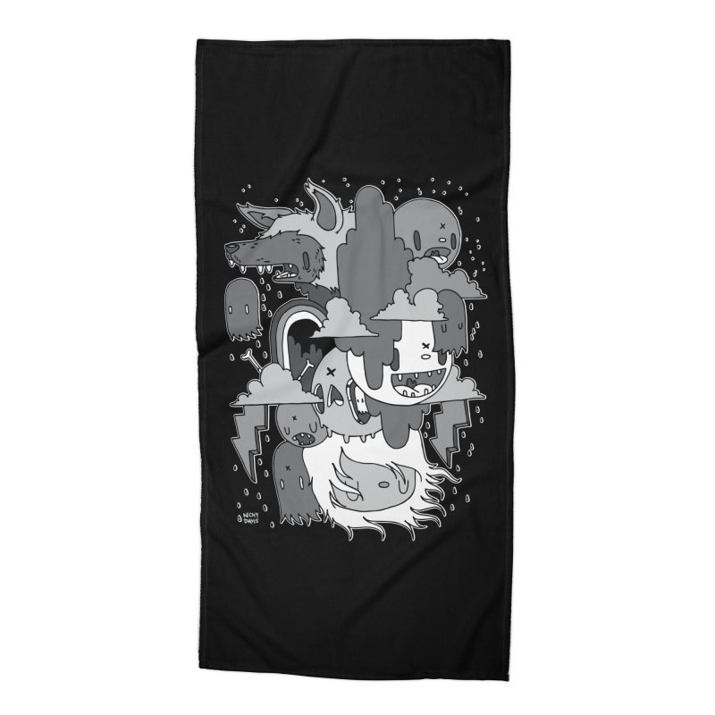 Rainy Day - Gray Accessories Beach Towel by Nicky Davis Threadless Shop