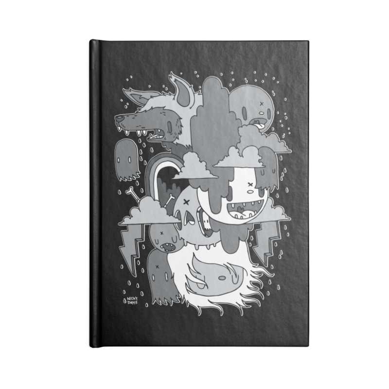 Rainy Day - Gray Accessories Lined Journal Notebook by Nicky Davis Threadless Shop