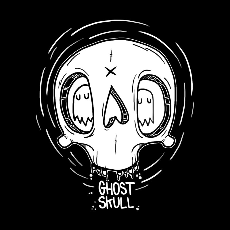 Ghost Skull In Your Head by Nicky Davis Threadless Shop