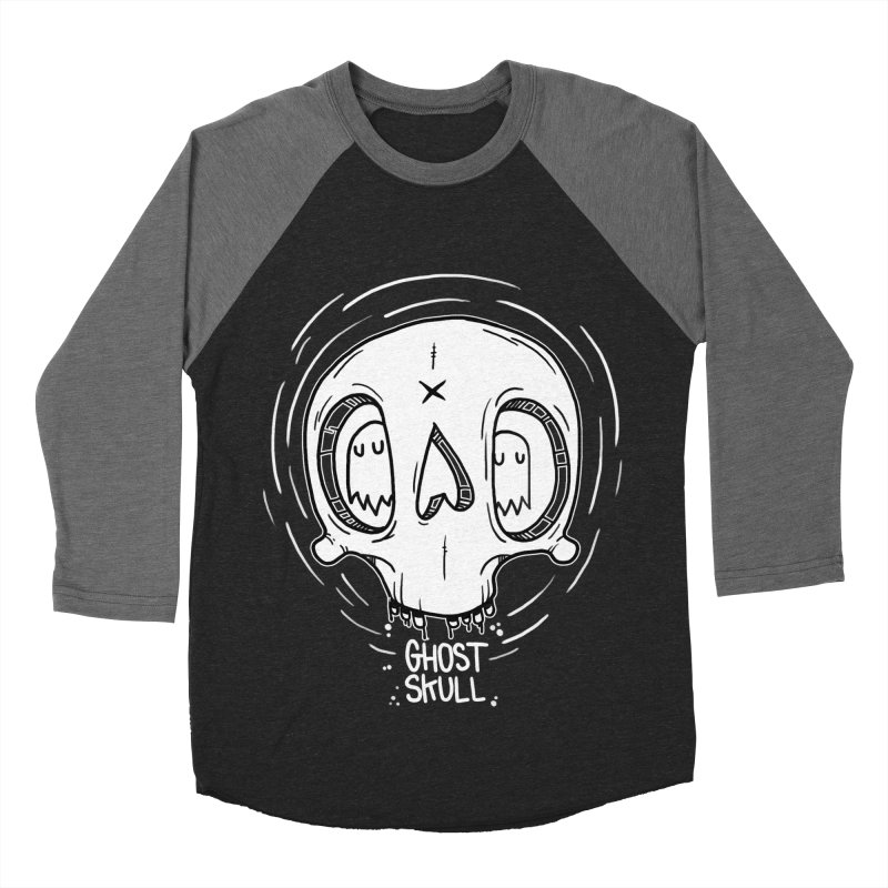 Ghost Skull In Your Head Men's Baseball Triblend Longsleeve T-Shirt by Nicky Davis Threadless Shop