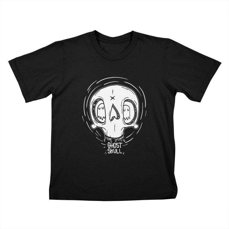 Ghost Skull In Your Head Kids T-Shirt by Nicky Davis Threadless Shop