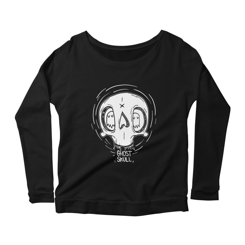 Ghost Skull In Your Head Women's Scoop Neck Longsleeve T-Shirt by Nicky Davis Threadless Shop