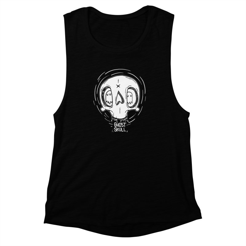 Ghost Skull In Your Head Women's Muscle Tank by Nicky Davis Threadless Shop