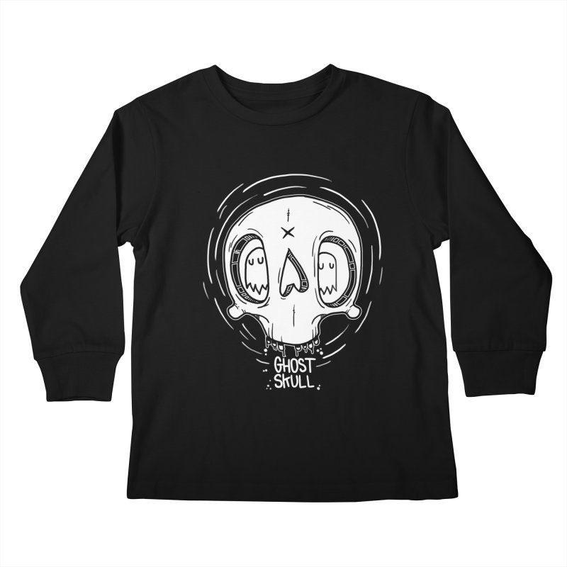 Ghost Skull In Your Head Kids Longsleeve T-Shirt by Nicky Davis Threadless Shop
