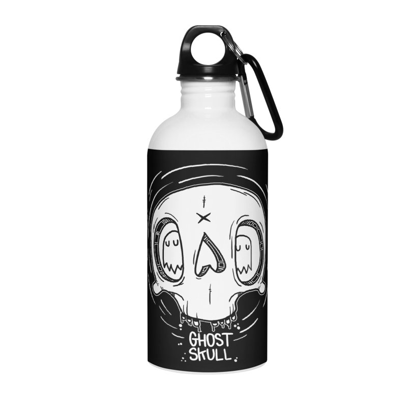 Ghost Skull In Your Head Accessories Water Bottle by Nicky Davis Threadless Shop