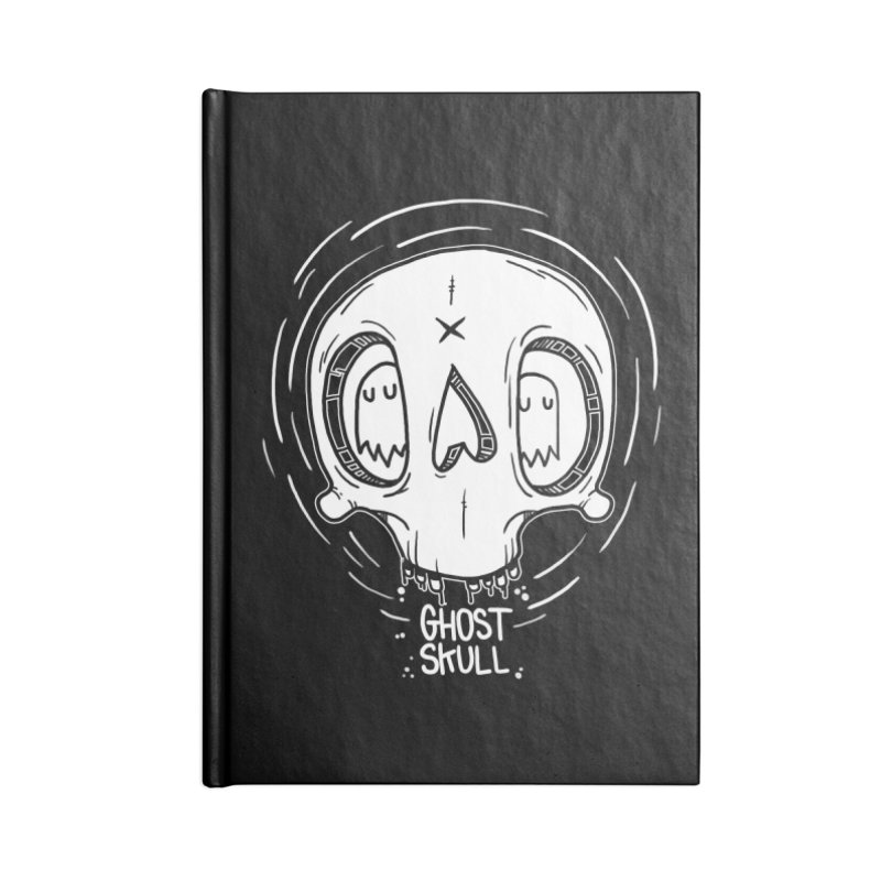 Ghost Skull In Your Head Accessories Lined Journal Notebook by Nicky Davis Threadless Shop