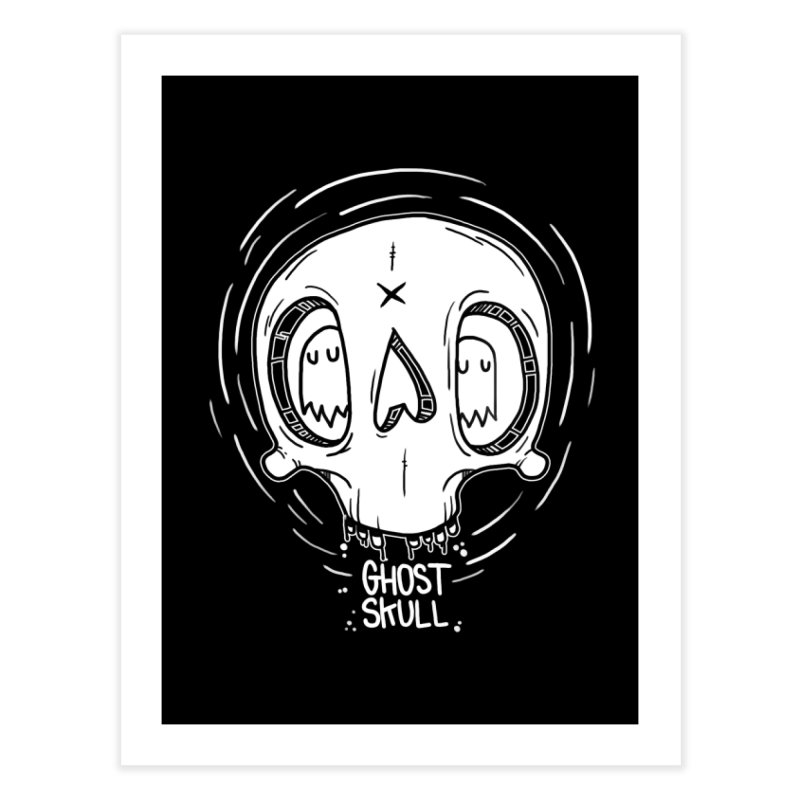 Ghost Skull In Your Head Home Fine Art Print by Nicky Davis Threadless Shop