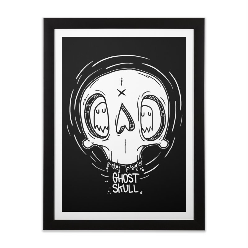 Ghost Skull In Your Head Home Framed Fine Art Print by Nicky Davis Threadless Shop