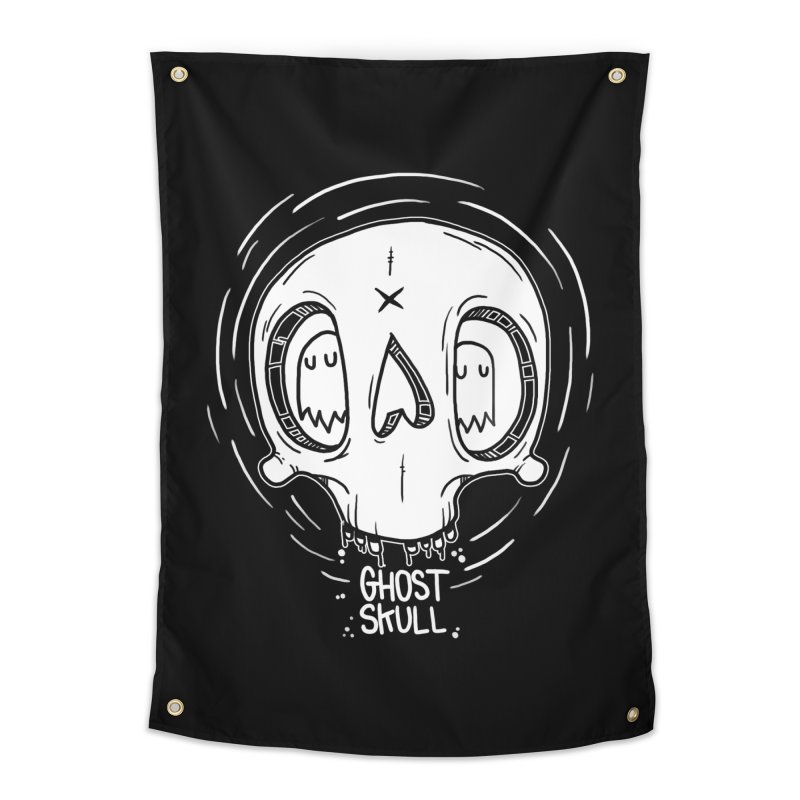 Ghost Skull In Your Head Home Tapestry by Nicky Davis Threadless Shop