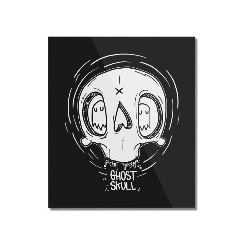 Ghost Skull In Your Head Home Mounted Acrylic Print by Nicky Davis Threadless Shop