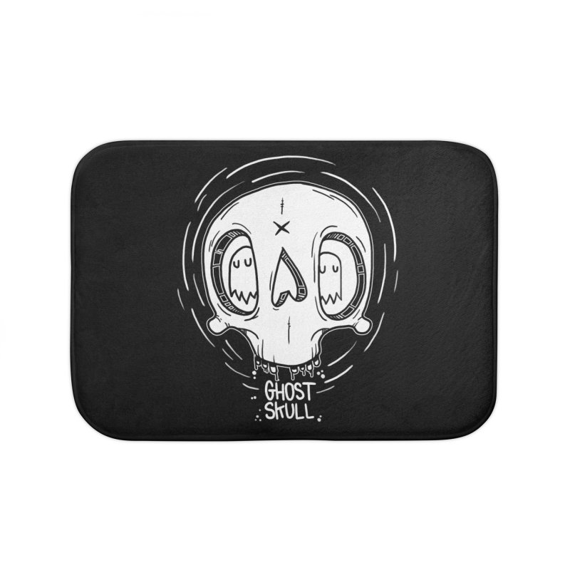 Ghost Skull In Your Head Home Bath Mat by Nicky Davis Threadless Shop