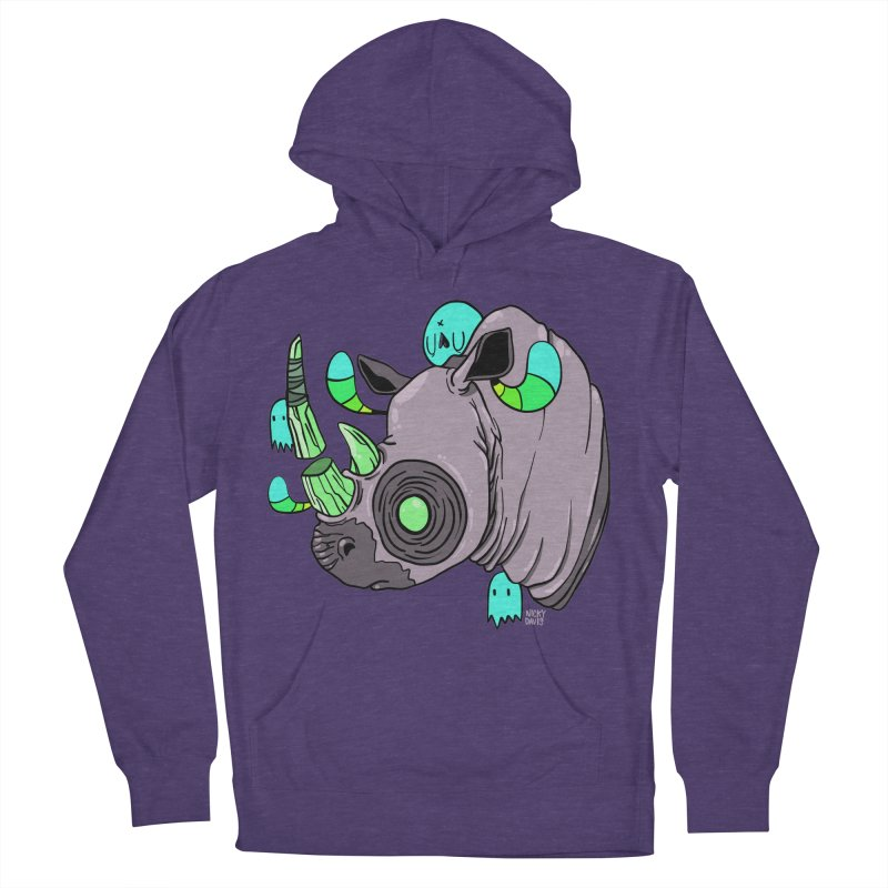 Save The Rhinos Women's French Terry Pullover Hoody by Nicky Davis Threadless Shop