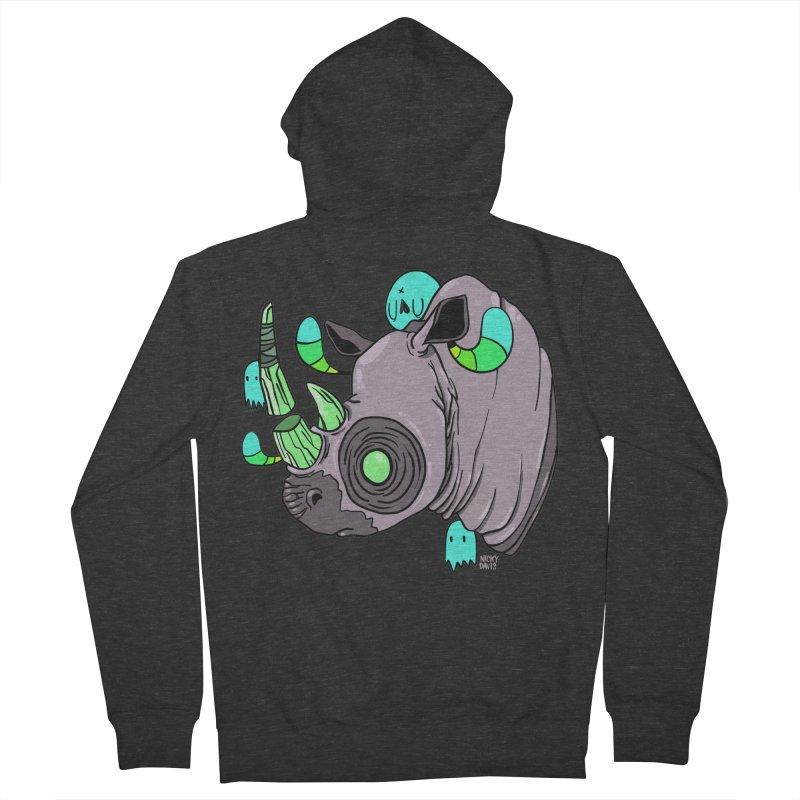 Save The Rhinos Men's French Terry Zip-Up Hoody by Nicky Davis Threadless Shop