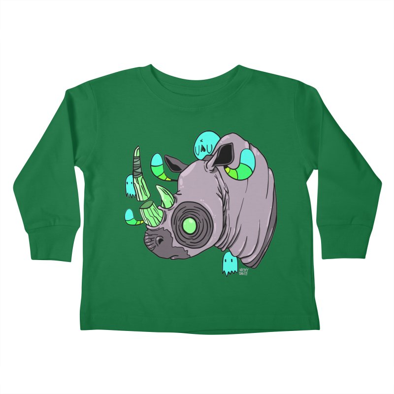 Save The Rhinos Kids Toddler Longsleeve T-Shirt by Nicky Davis Threadless Shop