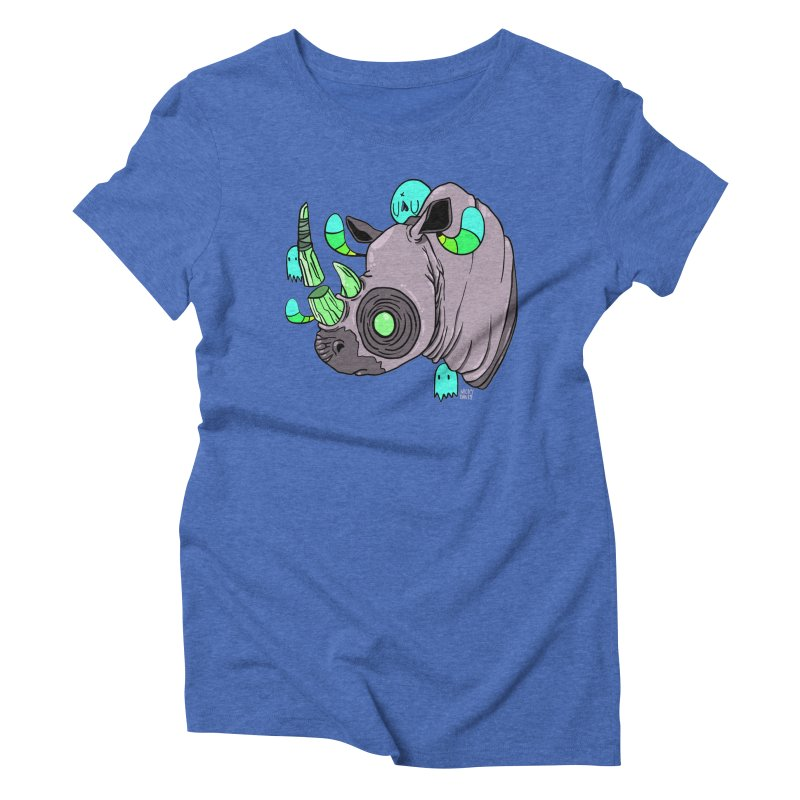 Save The Rhinos Women's Triblend T-Shirt by Nicky Davis Threadless Shop