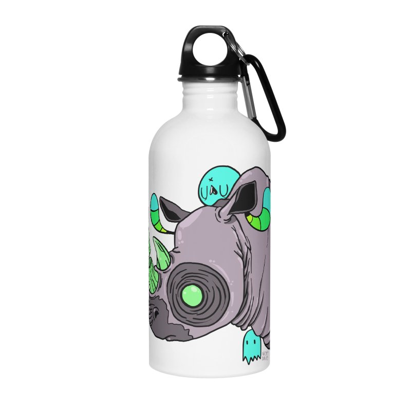 Save The Rhinos Accessories Water Bottle by Nicky Davis Threadless Shop