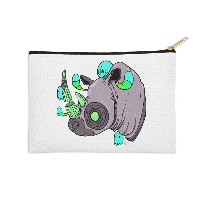 Save The Rhinos Accessories Zip Pouch by Nicky Davis Threadless Shop