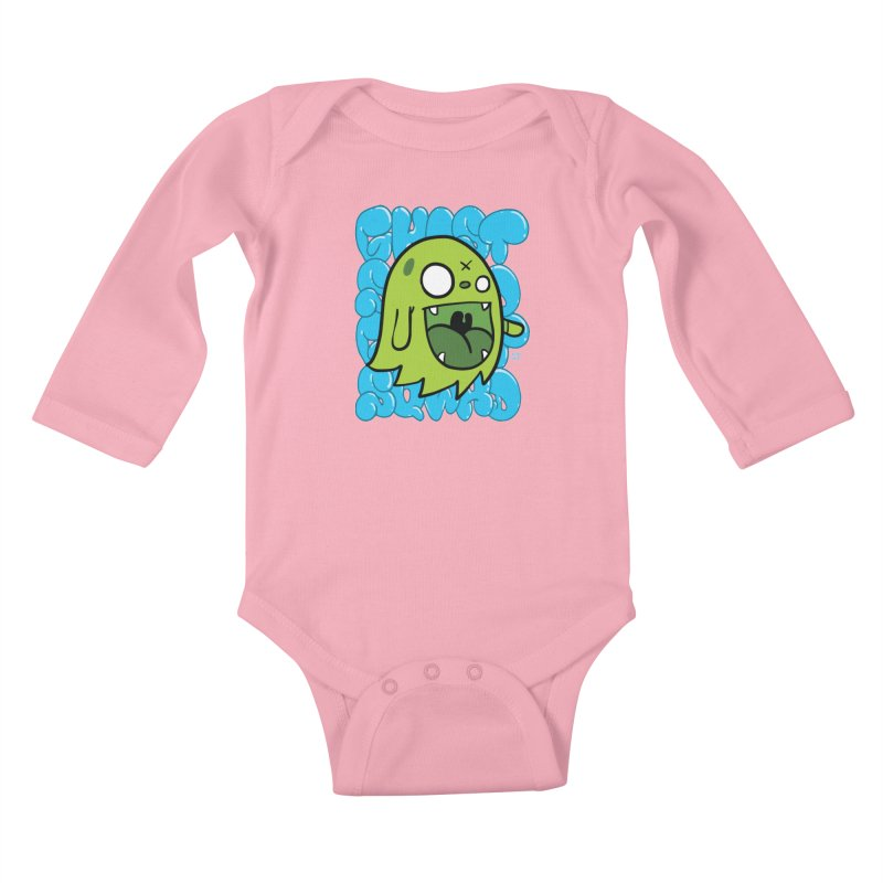 GHOST SQWAD Kids Baby Longsleeve Bodysuit by Nicky Davis Threadless Shop