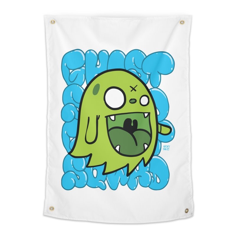 GHOST SQWAD Home Tapestry by Nicky Davis Threadless Shop
