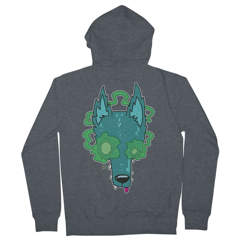 WOLF Women's French Terry Zip-Up Hoody by Nicky Davis Threadless Shop