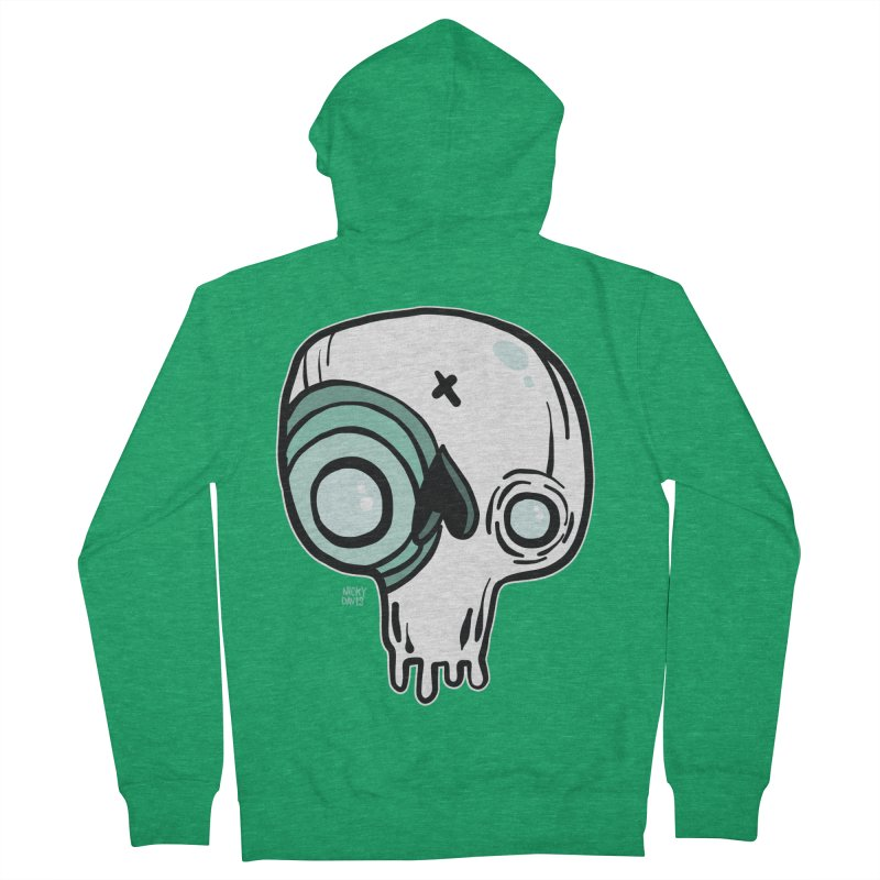 Skull #308 Men's French Terry Zip-Up Hoody by Nicky Davis Threadless Shop