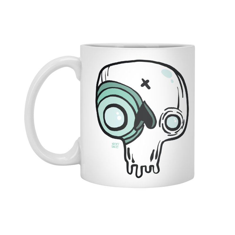 Skull #308 Accessories Mug by Nicky Davis Threadless Shop