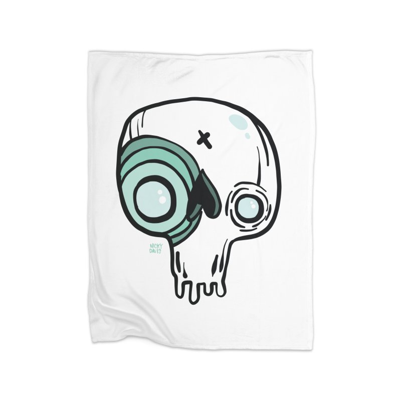 Skull #308 Home Blanket by Nicky Davis Threadless Shop