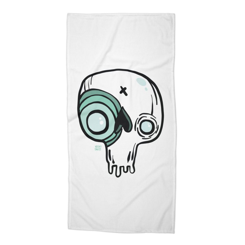 Skull #308 Accessories Beach Towel by Nicky Davis Threadless Shop