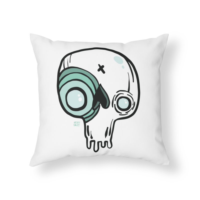 Skull #308 Home Throw Pillow by Nicky Davis Threadless Shop