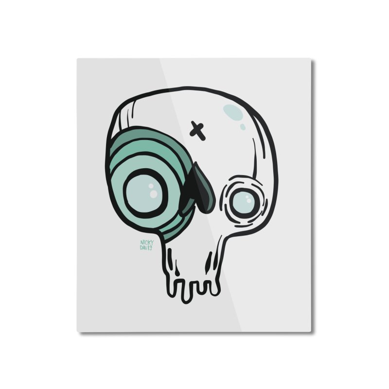 Skull #308 Home Mounted Aluminum Print by Nicky Davis Threadless Shop